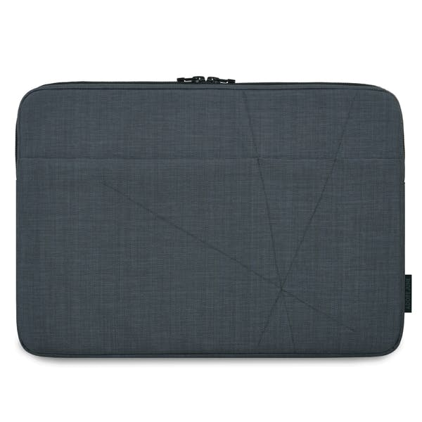 The picture shows the front of Axis Sleeve for Dell XPS 15 in color Dark Grey