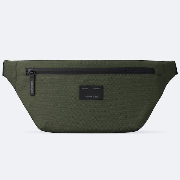 Bild 1 von Adore June Bent Hip-Bag in Farbe Oliv-Grün