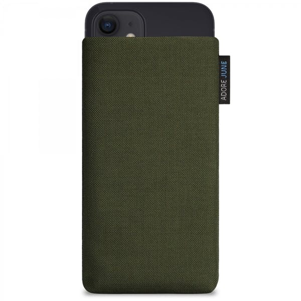 Image 1 of Adore June Classic Sleeve for Apple iPhone 12 Mini Color Olive-Green
