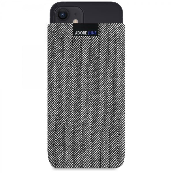 Image 1 of Adore June Business Sleeve for Apple iPhone 12 mini Color Grey / Black