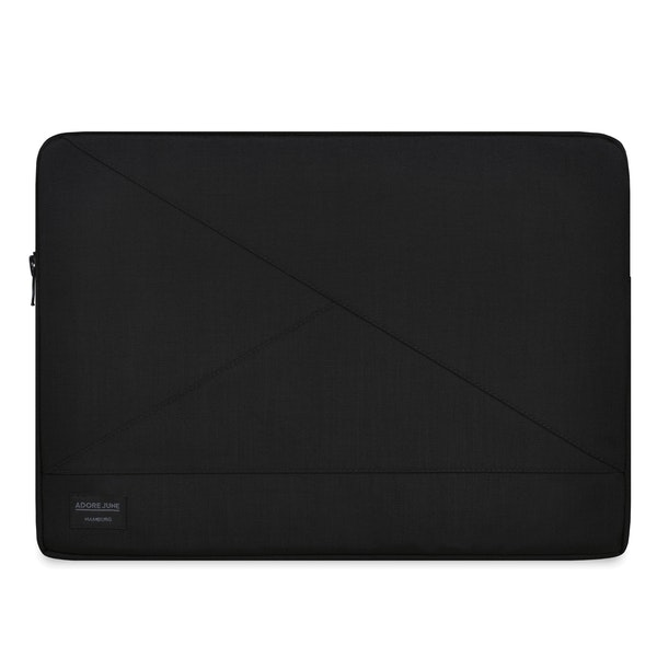 The picture shows the front of Triangle Sleeve for Microsoft Surface Laptop in color Black