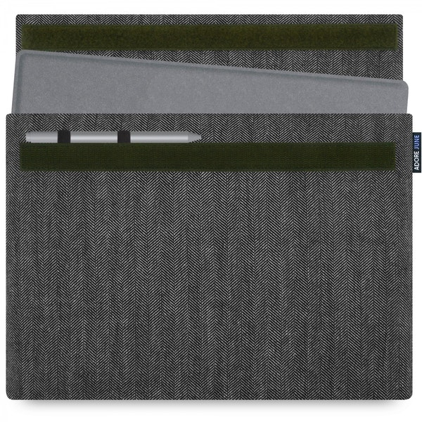 Image 1 of Adore June Business Sleeve for Microsoft Surface Pro 7 and Pro 6 Color Grey / Black