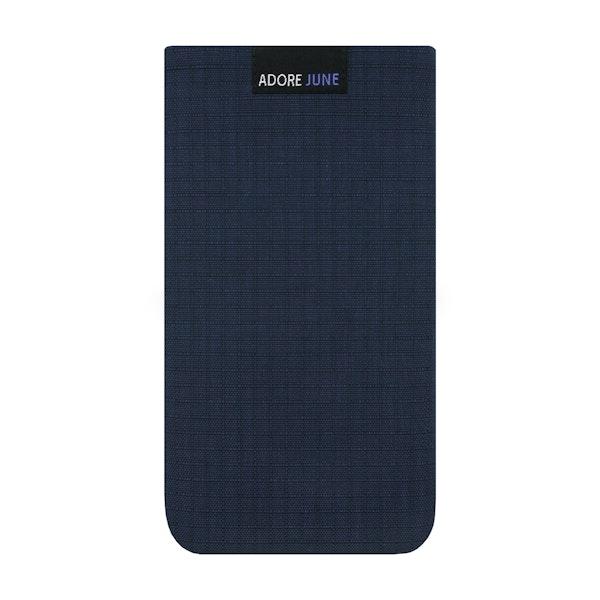 Das Bild zeigt die Vorderseite von Business II Tasche für Apple iPhone 6 6S und iPhone 7 in Farbe Blau / Schwarz