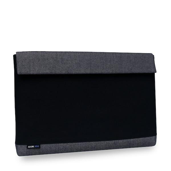 Das Bild zeigt die Vorderseite von Bold Hülle für Lenovo ThinkPad X1 Carbon 2014-2017 in Farbe Grau / Schwarz