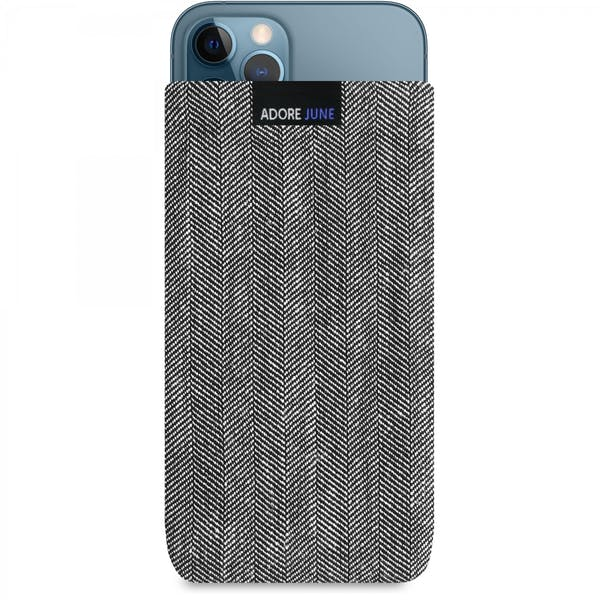 Image 1 of Adore June Business Sleeve for iPhone 12, iPhone 12 Pro, iPhone 13 and iPhone 13 Pro Color Grey / Black