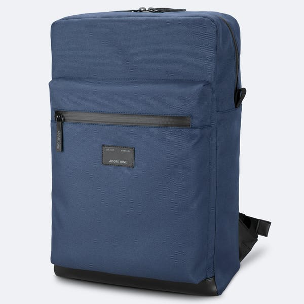 Image 1 of Adore June Bent Backpack Color Blue