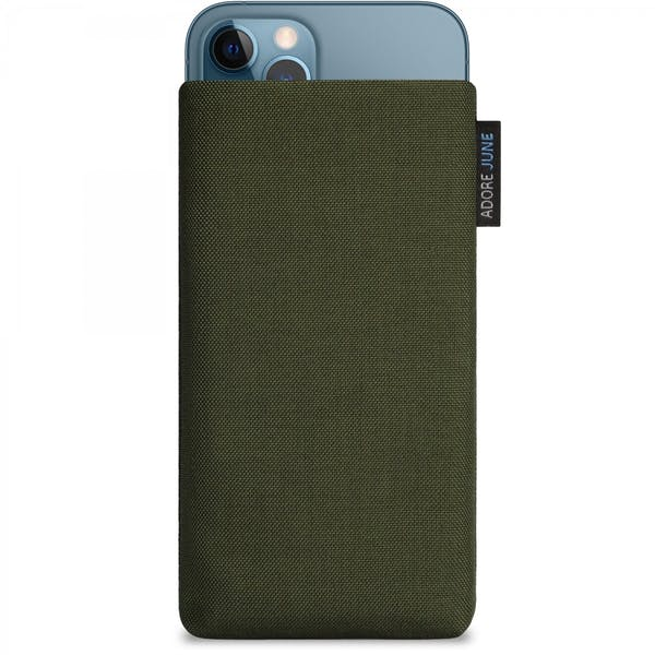 Image 1 of Adore June Classic Sleeve for iPhone 12 Pro and iPhone 12 Color Olive-Green