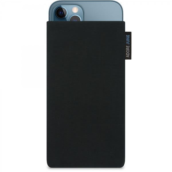 Image 1 of Adore June Classic Sleeve for iPhone 12 Pro and iPhone 12 Color Black