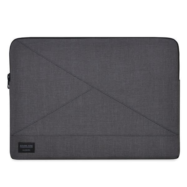 The picture shows the front of Triangle Sleeve for Apple MacBook Pro 13 and MacBook Air 13 in color Dark Grey