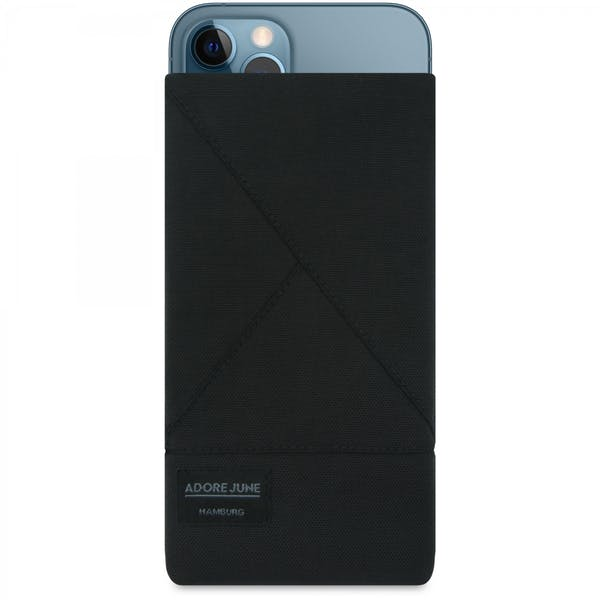 Image 1 of Adore June Triangle Sleeve for Apple iPhone 12 Pro and iPhone 12 Color Black