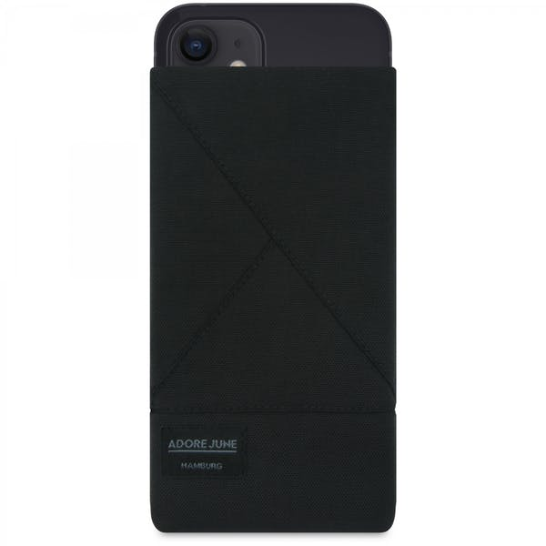 Image 1 of Adore June Triangle Sleeve for iPhone 13 Mini and iPhone 12 Mini Color Black